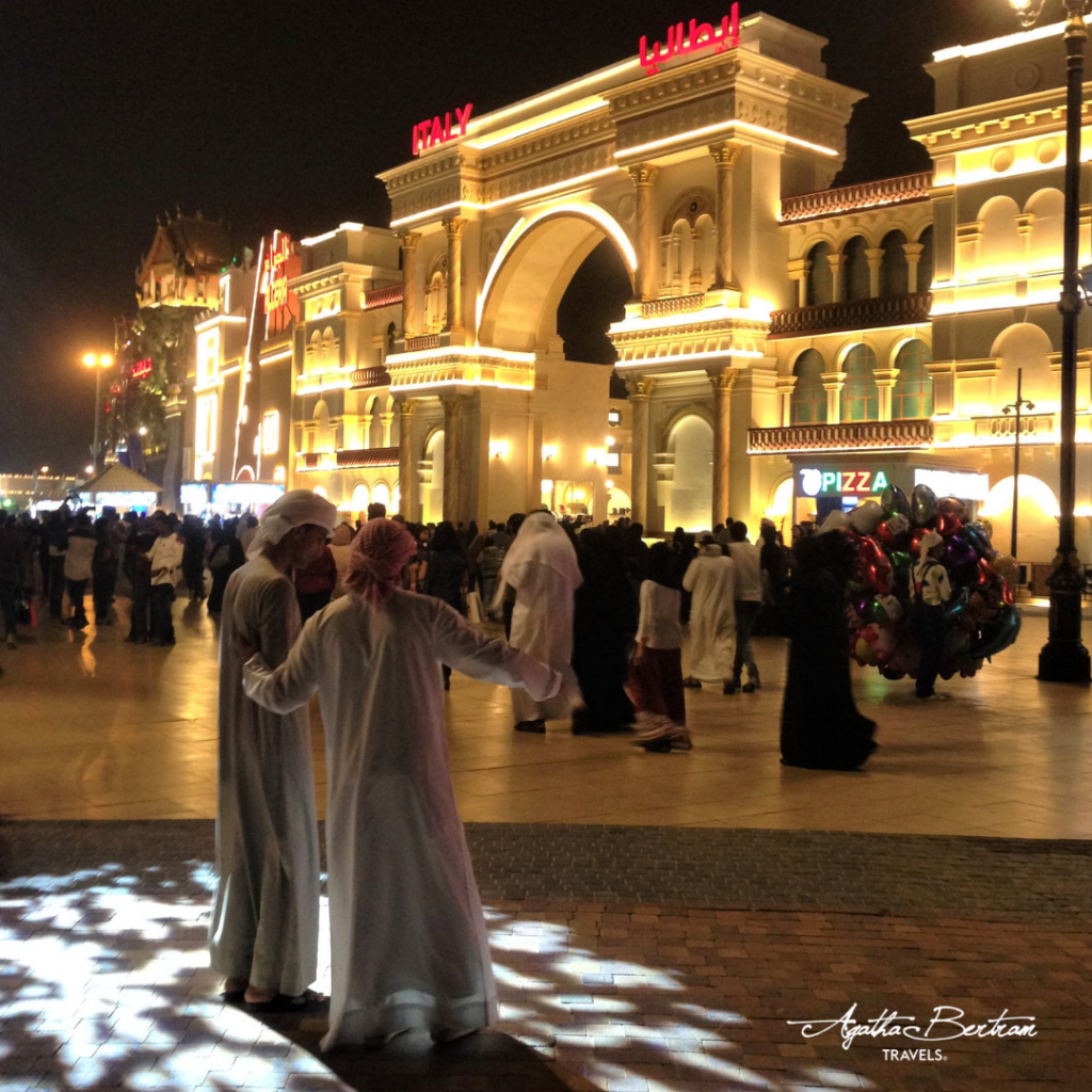 Outside the Italian Pavilion at Global Village, Dubai